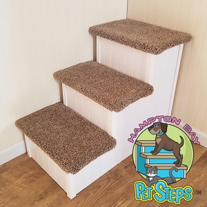Dog Stairs |Sturdy All Wood | For Pets 5-120 Lbs | 24