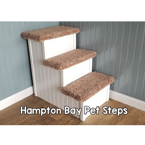Dog Stairs | Sturdy All Wood | For Pets 5-80 Lbs | 24