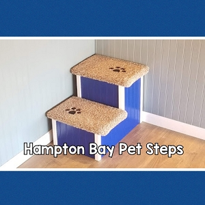 Dog Step | Sturdy All Wood |For Pets 5-80 Lbs |18