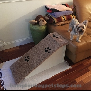 Dog Ramp | Sturdy All Wood | For Pets 2-40 Lbs | 18