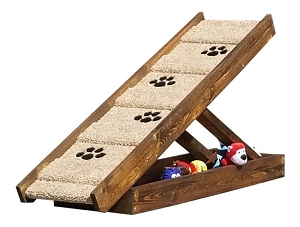 Extra Wide Adjustable Dog Ramp for Dogs 2-70 Lbs | 18