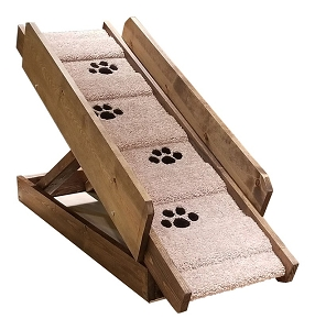 Sturdy Free Standing Dog Ramp for Dogs 2-40 Lbs | Adjustable Ramp 15