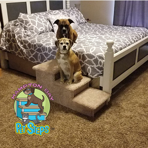 EXTRA WIDE Dog Stairs For Big Dogs |For Pets 5-150 Lbs | 24