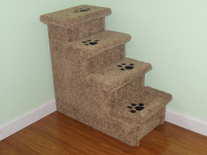 Tall  Wood Dog Stairs |For Pets 5-30 Lbs | 24