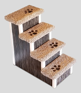 Wobble Resistant Wood Dog Stairs | For Pets 5-40 Lbs | 30