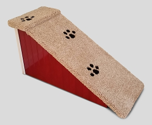 Stop The Wobble| Wobble Resistant Wood Dog Ramp| For Pets 2-40 Lbs| 18