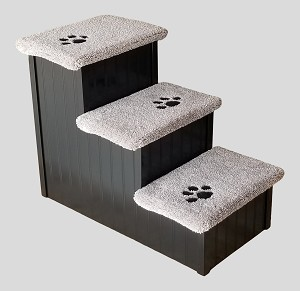 Stop The Wobble| Wobble Resistant Wood Dog Step| For Pets 5-120 Lbs| 24