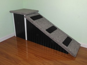 "Dog Ramp | Sturdy All Wood | For Pets 2-80 Lbs | 2 Piece Ramp With Total 24""H X 18""W X 60""L"