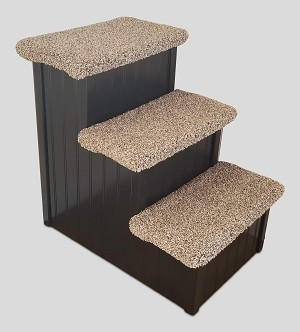 Stop The Wobble| Wobble Resistant Wood Dog Stair| For Pets 5-60 Lbs | 18