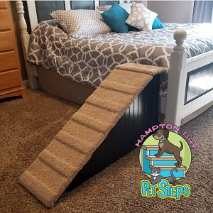 "Dog Ramp | Sturdy All Wood | For Pets 2-80 Lbs | 24""H X 14""W X 44""D 